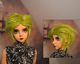 8/9 SD bjd green Fur Wig