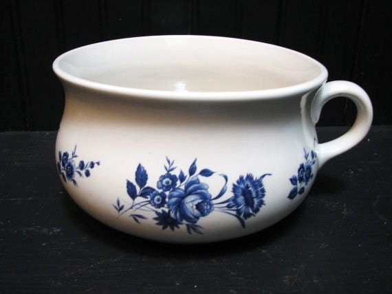 Lord Nelson Pottery Child's Chamber Pot Blue and White English Pottery