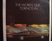 Vintage Magazine Original Promo Ad 1960's Ford Torino  - Great for Framing