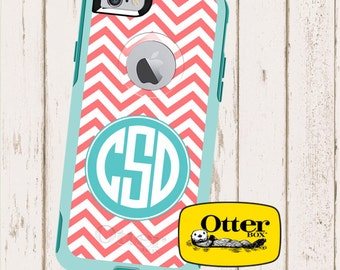 Monogrammed Otterbox Commuter Case for  iPhone 5c, iPhone 5/5s iPhone 6 in Chevron