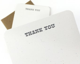 Letterpress Thank You Card. Thank You Card. Greeting Card. Wedding Thank You. Simple Thank You Cards.