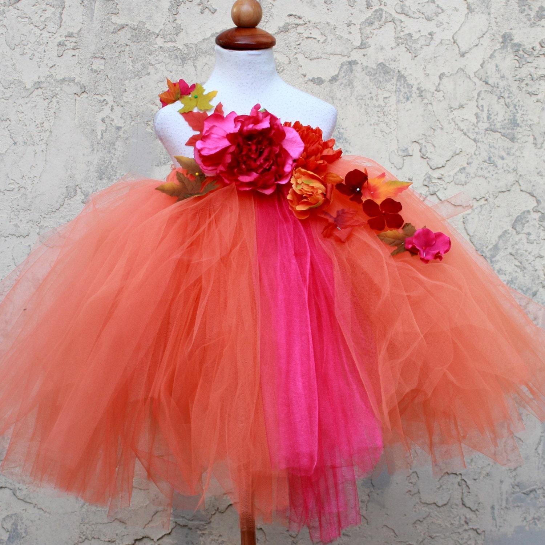 Fall Tutu Dress Fall Flower Girl Dress Autumn Dress Fall