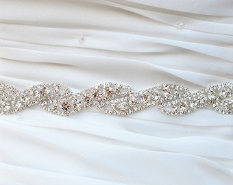 SALE ROMA Swarvoski wedding bridal rhinestone sash belt,head piece
