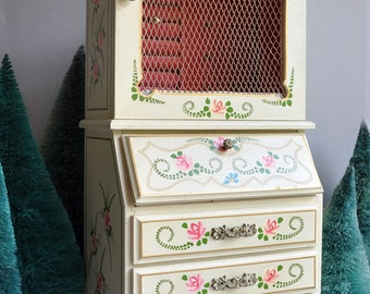 SALE 50% OFF! Vintage Large Painted Armoire Jewelry Box