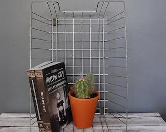 Wire Basket Tray Storage // Industrial Decor // Office and Desk Organization