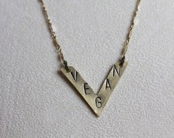 Vegan Necklace in Bronze