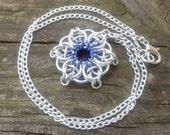 Celtic Star Pendant - Blue