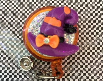 Retractable ID Badge Reel Witch Hat