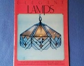 Elegant Lamps - vintage stained glass pattern book - Walrus Publications, 1988