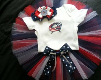 Columbus Blue Jackets inspired tutu outfit