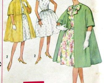 Uncut Vintage 1950s Dress & Coat Pattern Bust 32 Simplicity 4395