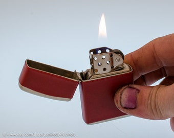 Vintage Austrian Champ Windproof Pocket Lighter for Pipes NOS