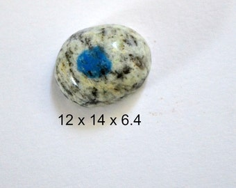 "K2 ring cabochon. 12 x 14 x 6.4  "" blue eye"""