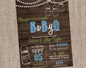 BABY Q Invitation - BabyQ Baby Shower Invitation - Backyard BBQ Invite - Coed Baby Shower - Boy Baby Shower - Rustic