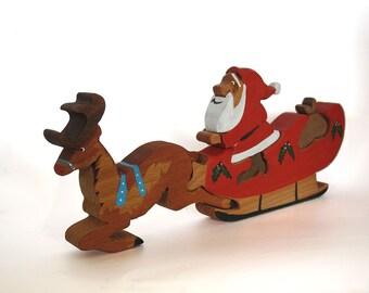 Santa's Sleigh 3D jigsaw Figures