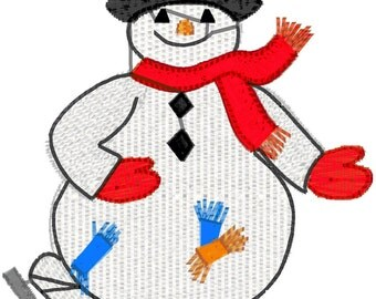 73 Snowmen for 4x4 hoop machine embroidery designs. Downloadable zip files or cd