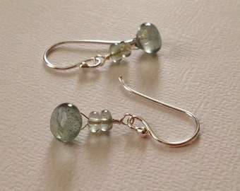 Aquamarine Earrings in Sterling Silver -Silver Aquamarine Earrings -March Birthstone Earrings