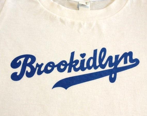 FREE SHIPPING 4T White Organic Cotton Blue Brookidlyn T-Shirt