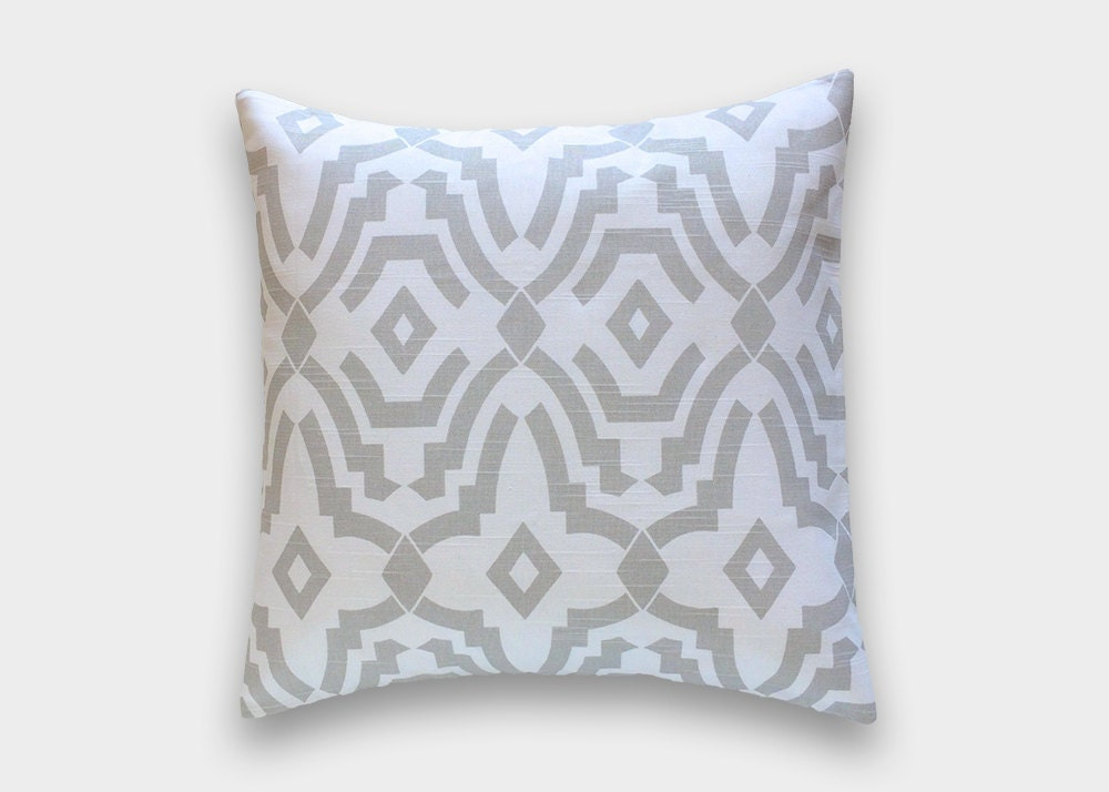 Throw Pillow In French : 50% OFF Gray Chevelle Decorative Pillow Cover. French Grey