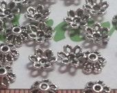 72 pcs per pack 6x3mm Filigree Tiny Bead Caps Antique Silver Finish Lead Free Pewter