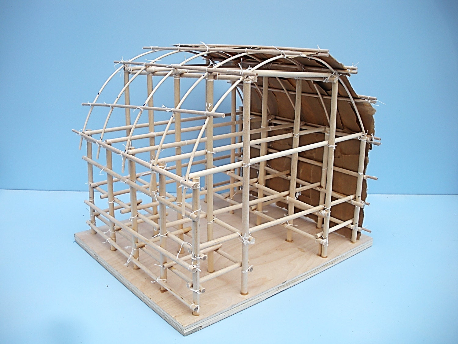 Native American Longhouse Kit Diy Longhouse Longhouse Kit