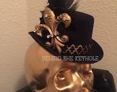 Fleur de lis Crystal Top Hat