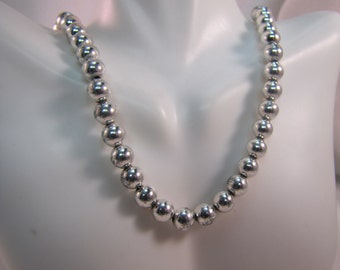 "8mm Sterling Bead 24"" Necklace"