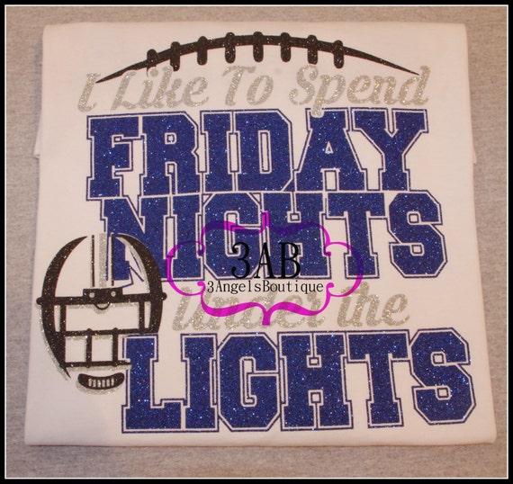 I Like To Spend Friday Nights Under The Lights Glitter Vinyl
