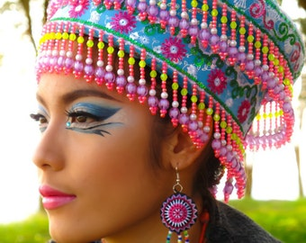 Hmong Hat,One of a kind,tribal hat