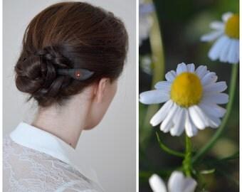 Wood hair stick agate gemstone ebony wood hair pin hair accessory hair updo