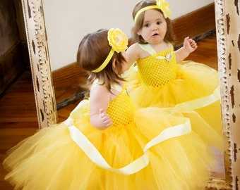 Baby Halloween Costume, Toddler Halloween Costume, Belle Dress, Princess Belle Costume, Princess Belle Birthday, Belle Tutu Dress