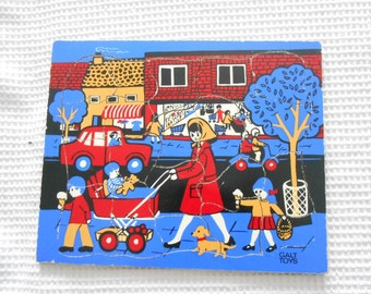 Vintage Wood Puzzle Game Toy Childrens Galt toys English Street