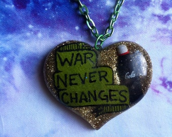 War Never Changes, Fallout Resin Necklace, New Vegas, Fallout 4