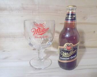 Single Vintage Miller Beer Goblet