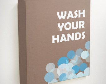 Wash Your Hands, Bathroom Wall Quotes, Kids Bathroom Art, Bathroom Decor Kids, Restroom Decor, Bathroom Decor, Art For Bathroom, Wall Decor