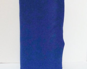 Royal blue 20% Merino Wool Felt Blend Fabric By the Yard from Woolhearts