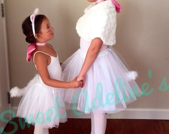 Aristocats Marie Tutu Costume with Fluffy Posable Tail
