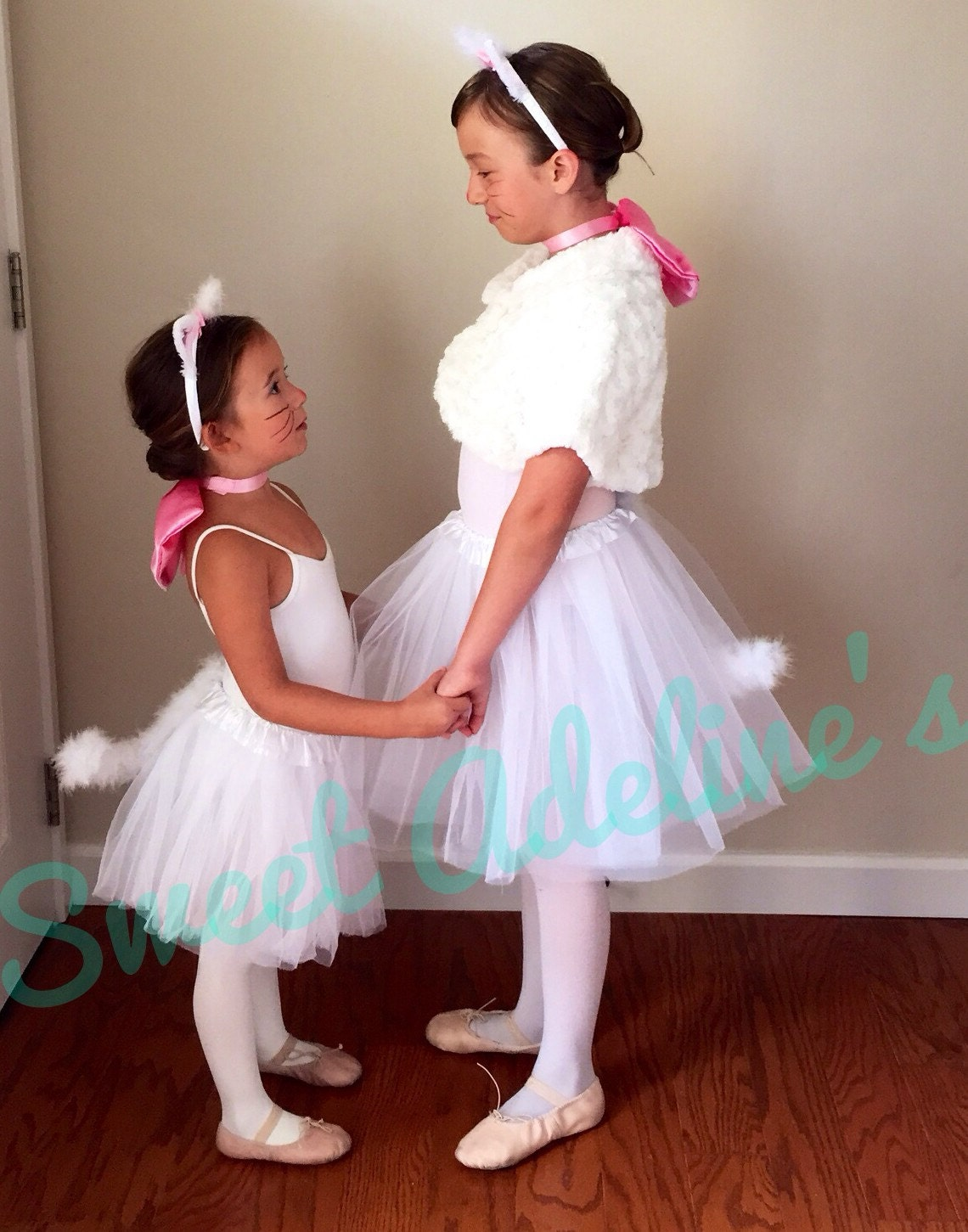 aristocats marie tutu costume with fluffy posable tail. Black Bedroom Furniture Sets. Home Design Ideas