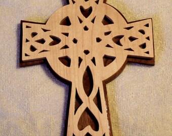 Celtic Cross - Handmade Cross - Fretwork Cross - Irish Cross