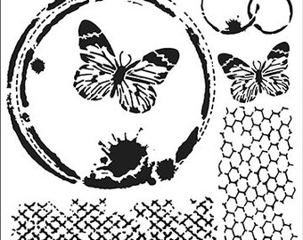 Crafters' Workshop - 12 x 12 BUTTERFLY COLLAGE - TCW554