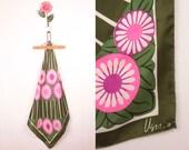 60s Vera square scarf // daisy print