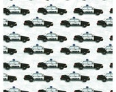 Police Cars From Clothworks Fabric's Emergency! Collection by Eugene Warren Smith