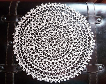 Foodie gift-Tatting lace doily ivory-Christmas gift-kitchen decor-Housewarming-gift for anniversary-stunning wife gift-gift for grandma