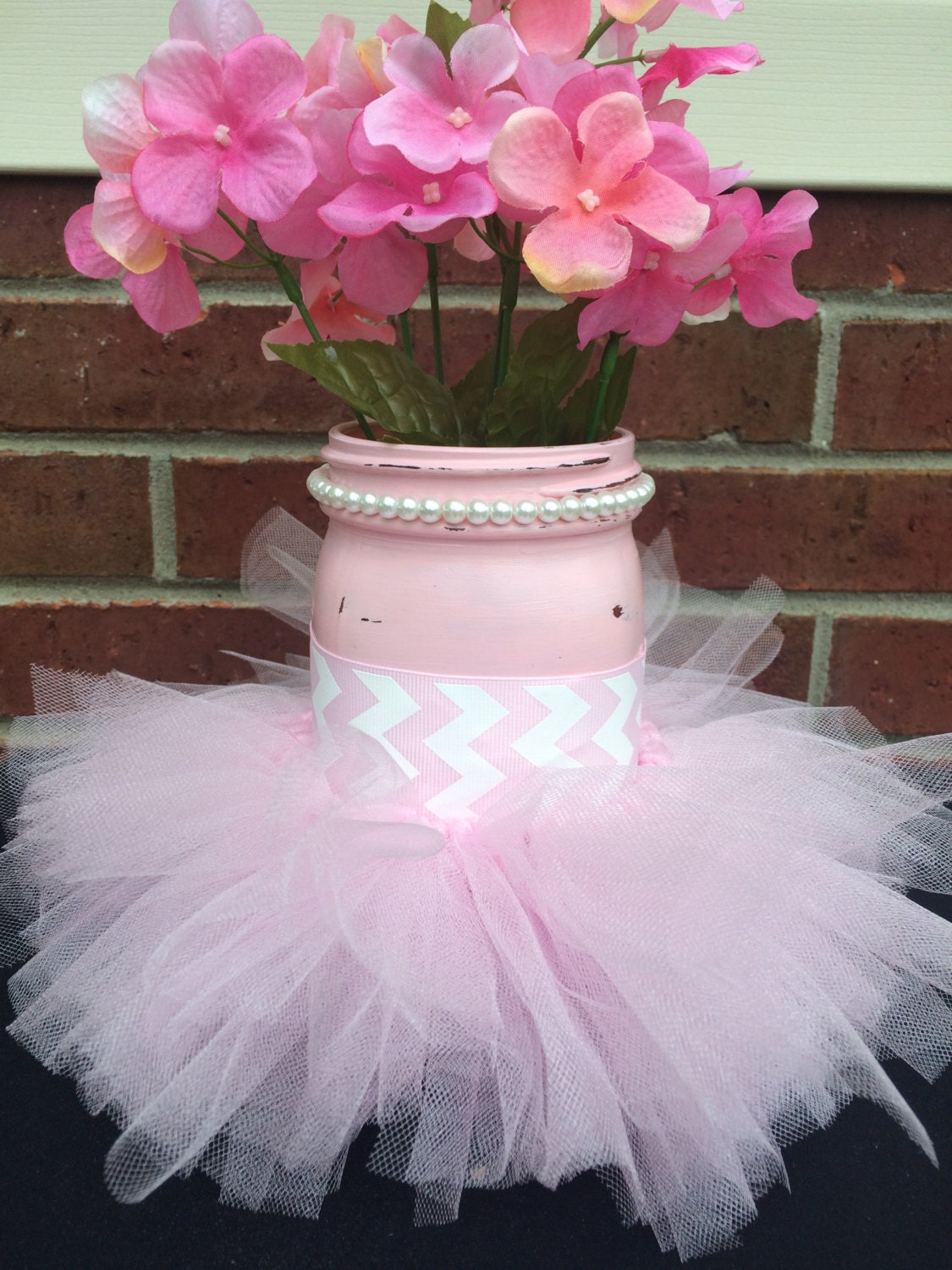 It 39 s a girl baby shower decor painted pink mason jar - Decoration baby shower girl ...