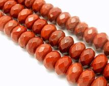 Burgundy Colored Round Jasper Beads - 10mm Burgundy Jasper Beads - 1 STRAND (S92B5-06)
