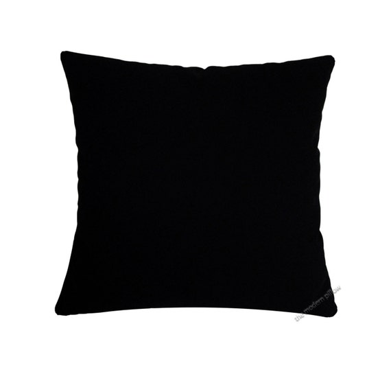 Jet Black Solid Decorative Throw Pillow Cover / Pillow Case