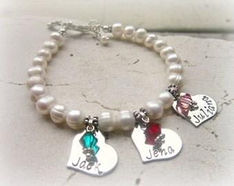 Mothers Bracelet.Grandmothers Bracelet.Gift for Grandma.Personalized Birthstone Bracelet.Mothers Jewelry.Personalized Jewelry. Gift for Mom