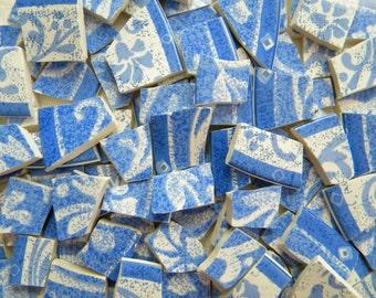 SALE - Mosaic China Tiles - SUE ZIPKIN - Recycled Designer Plates - 100 Tiles