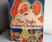 Vintage Children's Christmas Book - The Night Before Christmas - 1943
