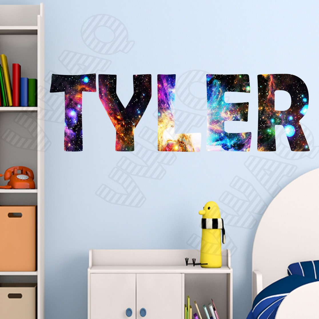 Personalized Wall Art Decor: Custom Name Wall Decal Galaxy Wall Art Personalized Name Wall